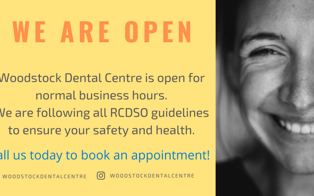 Woodstock Dental Centre Is Open For All Dental Treatments